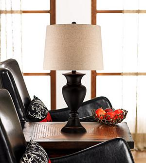 Set of 2 Metal Urn Bronze Table Lamps Amazoncom