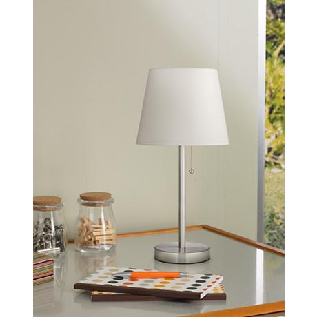 Flesner Brushed Steel 20 Quot H Accent Table Lamp With Usb Port