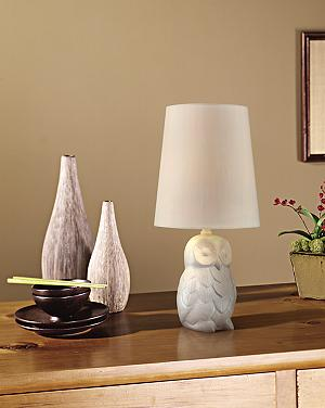 Allow This White Ceramic Owl Table Lamp To Watch Over You In Any Room Of  Your Home. Full Of Detail, This White Ceramic Table Lamp Will Provide A  Soft Glow ...