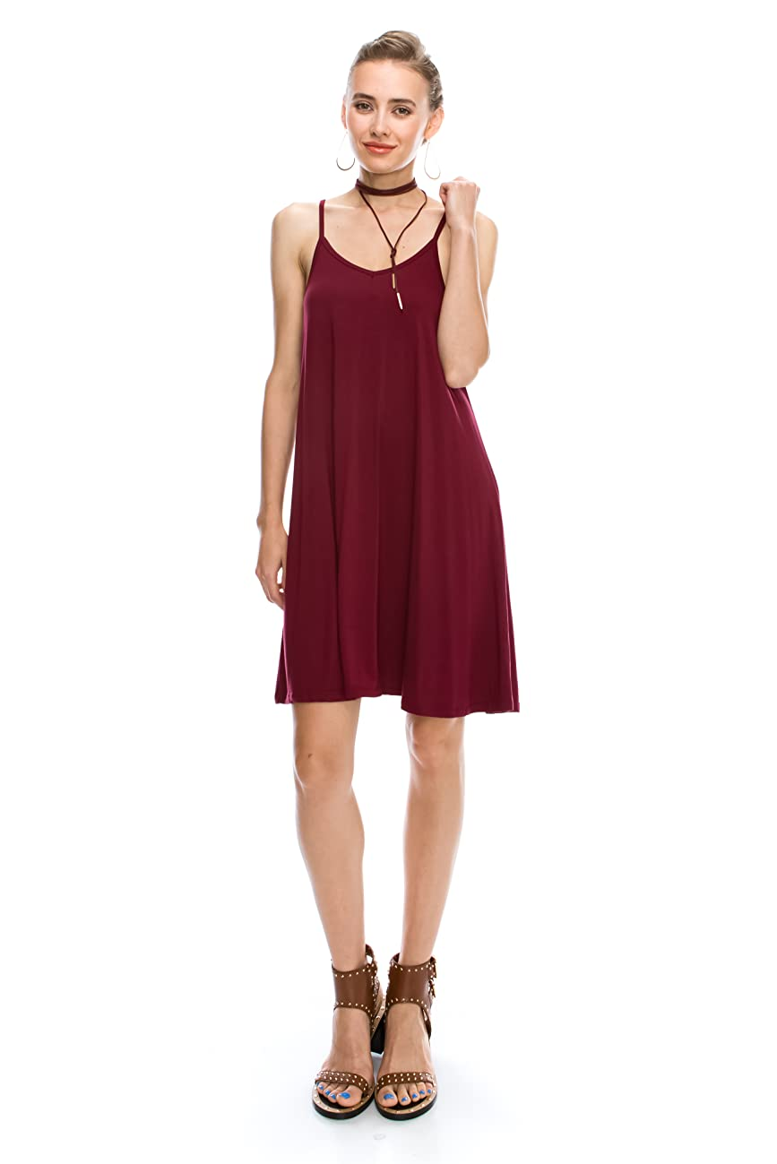 Casual Spaghetti Strap Cover Up Dresses: Beach Loose Tank