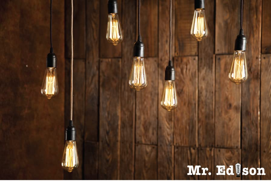 rustic touch to your home or commercial space with these antique style edison bulbs these hand crafted edison light bulb deliver a