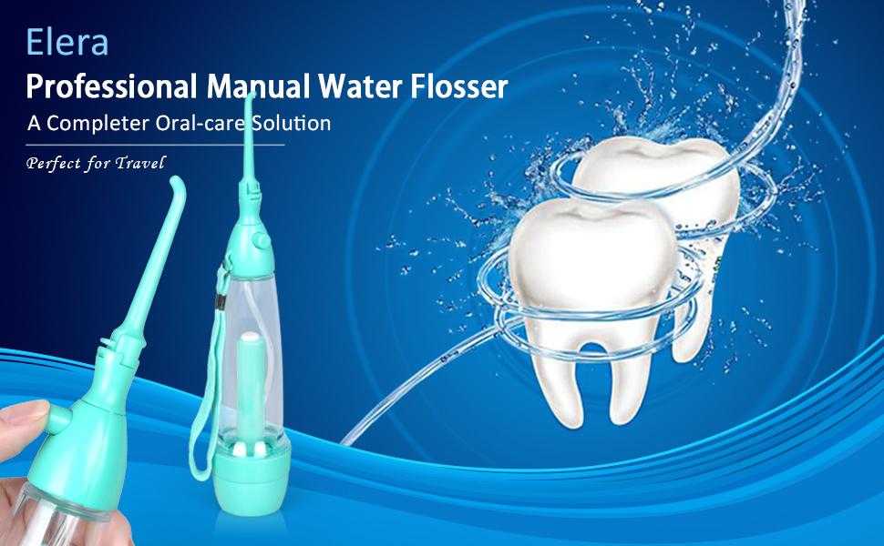 elera portable air pressure dental water flosser oral irrigator teeth cleaning for. Black Bedroom Furniture Sets. Home Design Ideas