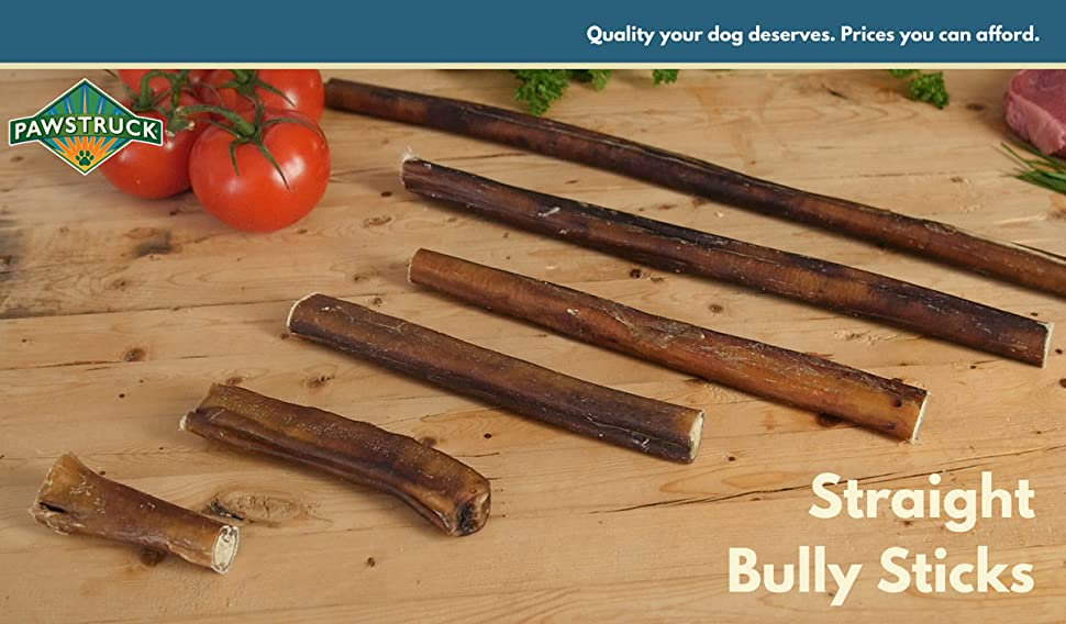 12 straight bully sticks for dogs small thickness 25 pack natural low odor. Black Bedroom Furniture Sets. Home Design Ideas