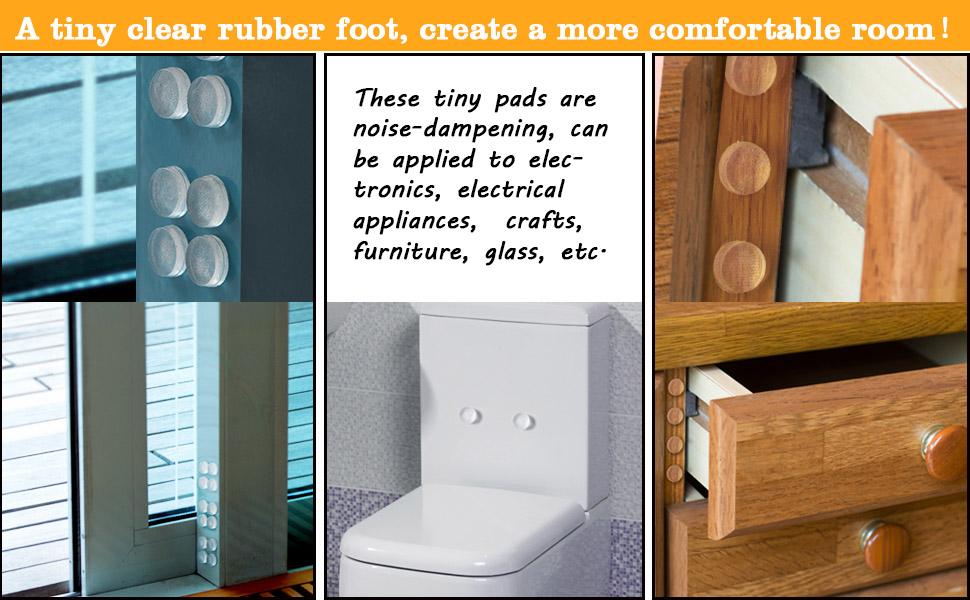 Product description  sc 1 st  Amazon.com & Amazon.com: eBoot 90 Pieces Self-adhesive Clear Rubber Feet ... pezcame.com
