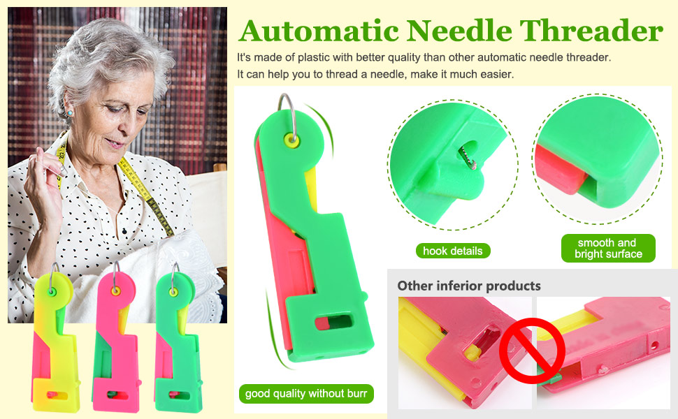 Elderly Guide Needle Easy Device Automatic Thread Sewing Threader
