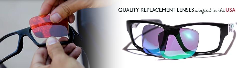 77012dab69 Amazon.com  LenzFlip Replacement Lenses for Oakley HOLBROOK Sunglass ...