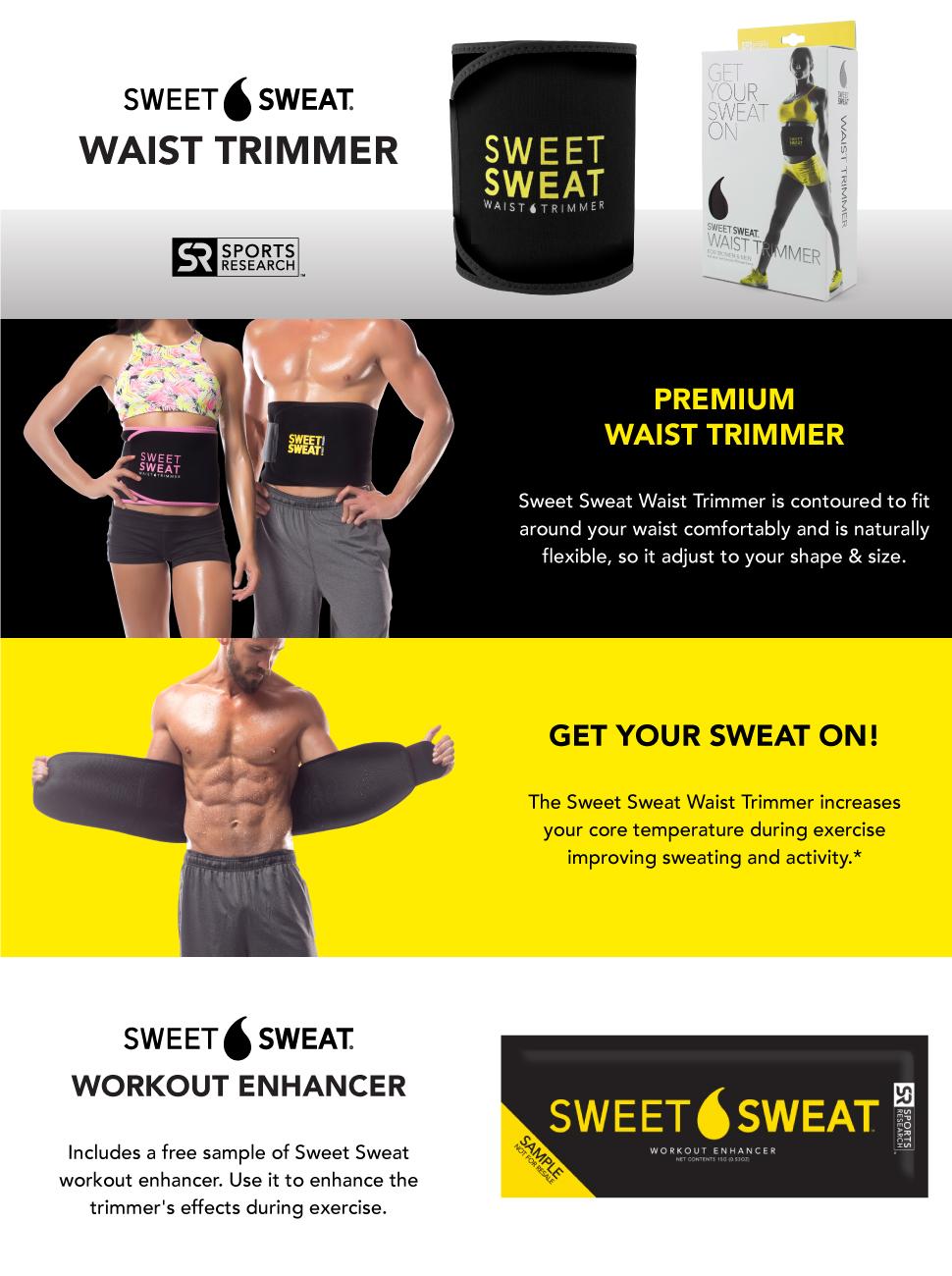 9f22be4dbb Sweet Sweat Premium Waist Trimmer Workout Enhancer Promotes Weight ...