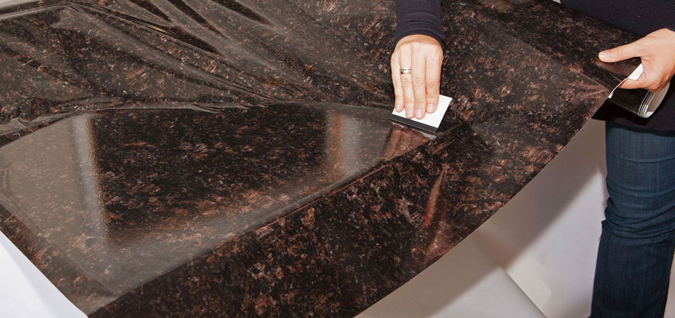Instant Granite Counter Top Peel And Stick Gold Granite