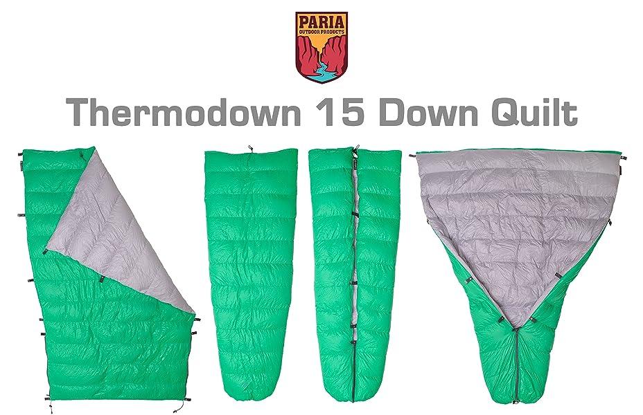 Amazon.com : Thermodown 15 Degree Down Sleeping Quilt - Ultralight ... : down sleeping quilt - Adamdwight.com