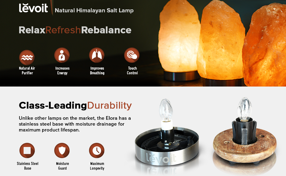 Himalayan Salt Lamps Radiation : Amazon.com: Levoit Elora Hand Carved Natural Himalayan Crystal Salt Lamp(8 to 11lbs) with ...