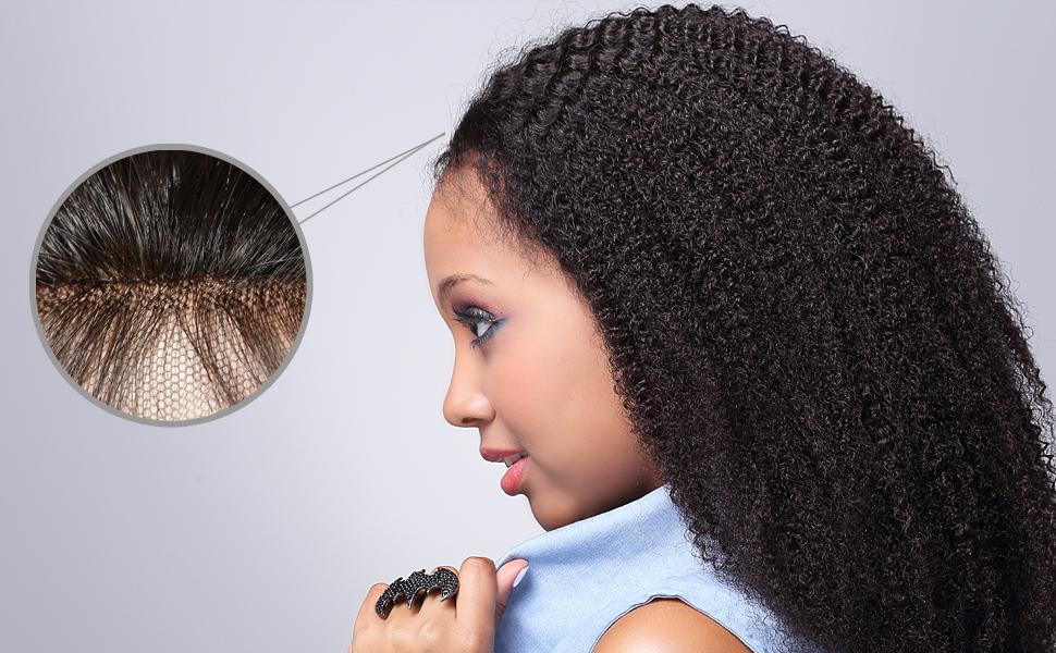 Amazon Com Vvhair African American Human Hair Wigs
