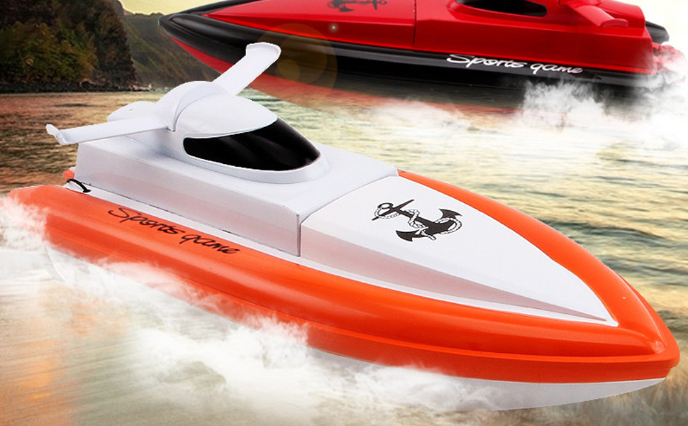 Rc boat,DeXop F1 Works In Water RC Boat Remote Control Boat-Orange