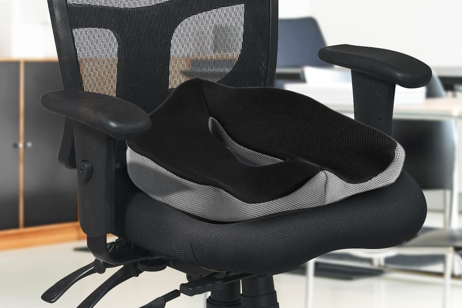 This memory foam seat cushion from Perfect Posture will add comfort to your  everyday seating: from your home, to your car seat, office chair and more. - Amazon.com: Perfect Posture - Memory Foam Seat Cushion: NeverFlat