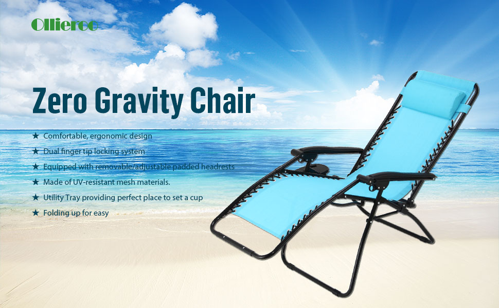 pack blue zero gravity lounge chair pillow utility tray adjustable folding recliner outdoor patio amazon canada anti costco