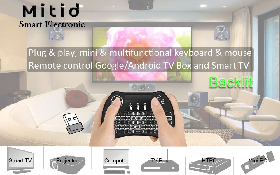 Perfect For Google Android TV Box IPTV HTPC Smart Test It With Normal Wired Keyboard If Works Our Mini Is Compatible Your