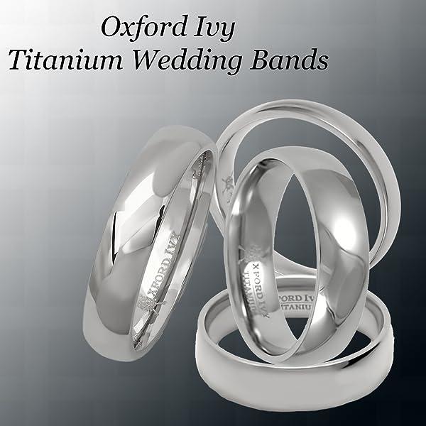 Oxford Ivy 5mm Mens Plain Comfort Fit Titanium Wedding Band