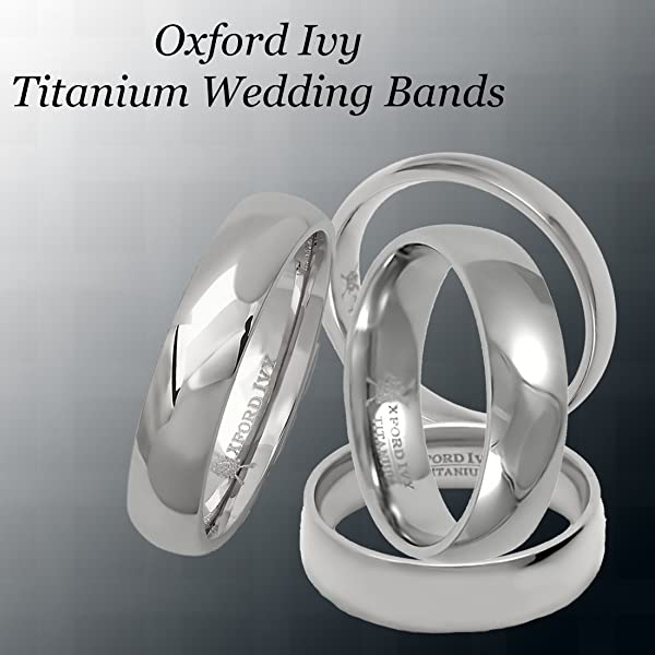 6mm Mens Comfort Fit Titanium Plain Wedding Band Available Ring
