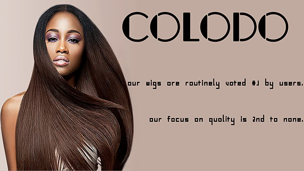 Amazon.com : COLODO Synthetic Lace Front Wigs Wet And Wavy