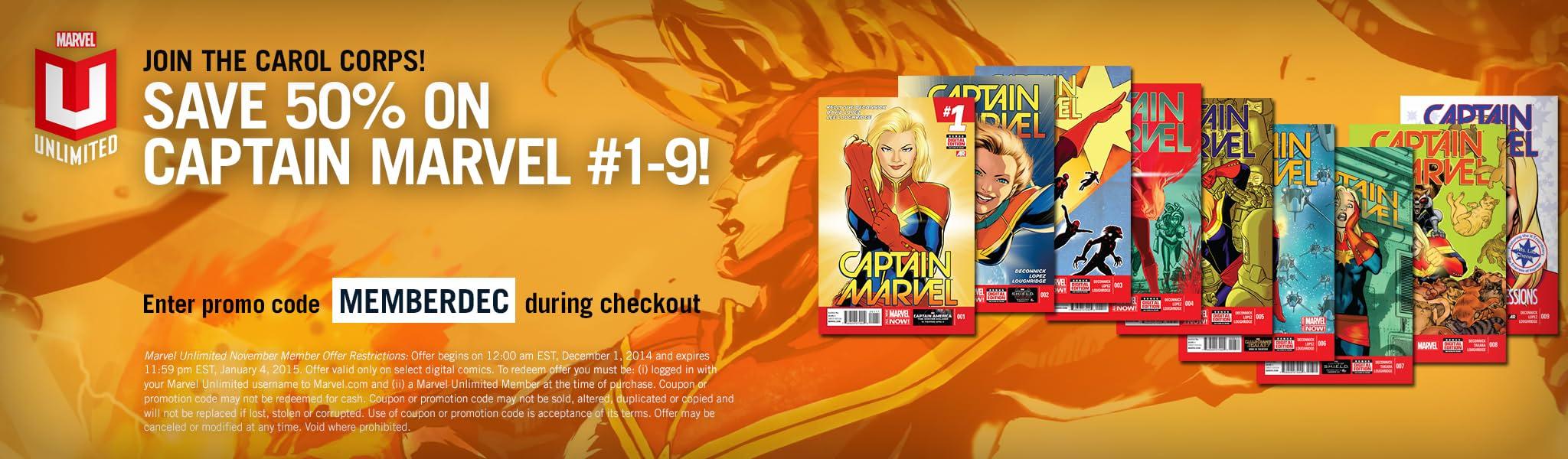 marvel unlimited spotlight offer december 2014 marvel comics