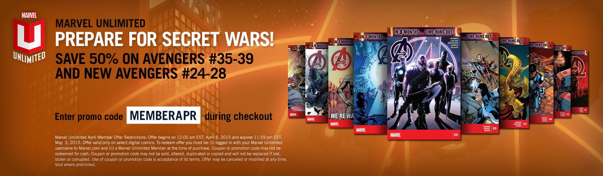marvel unlimited spotlight offer april 2015 marvel comics