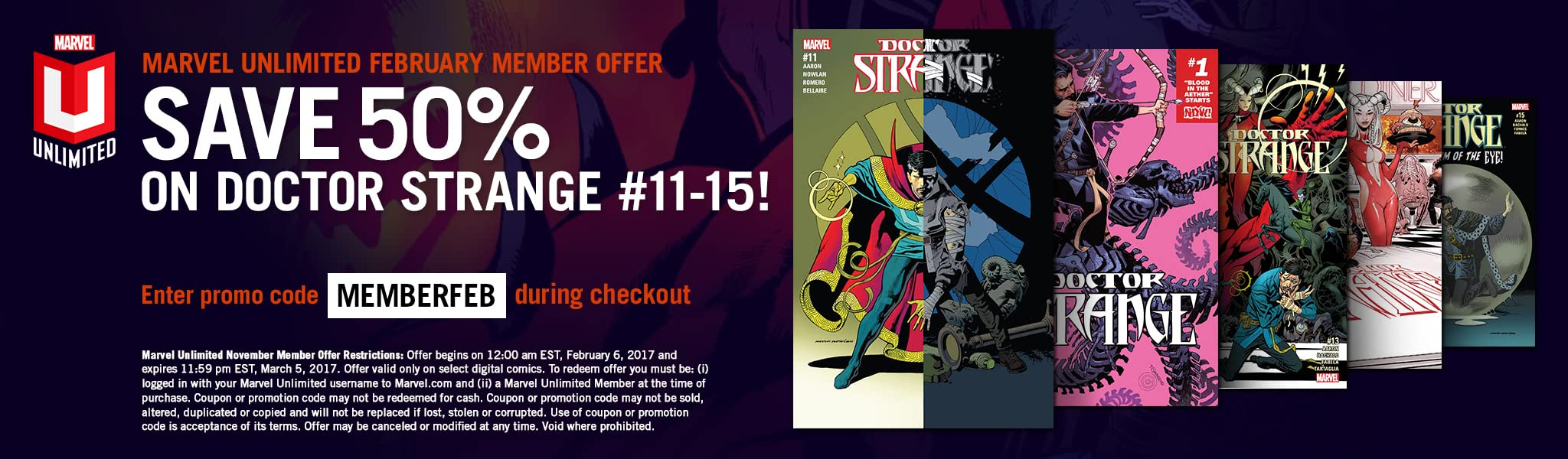 marvel unlimited february 2017 offer marvel comics