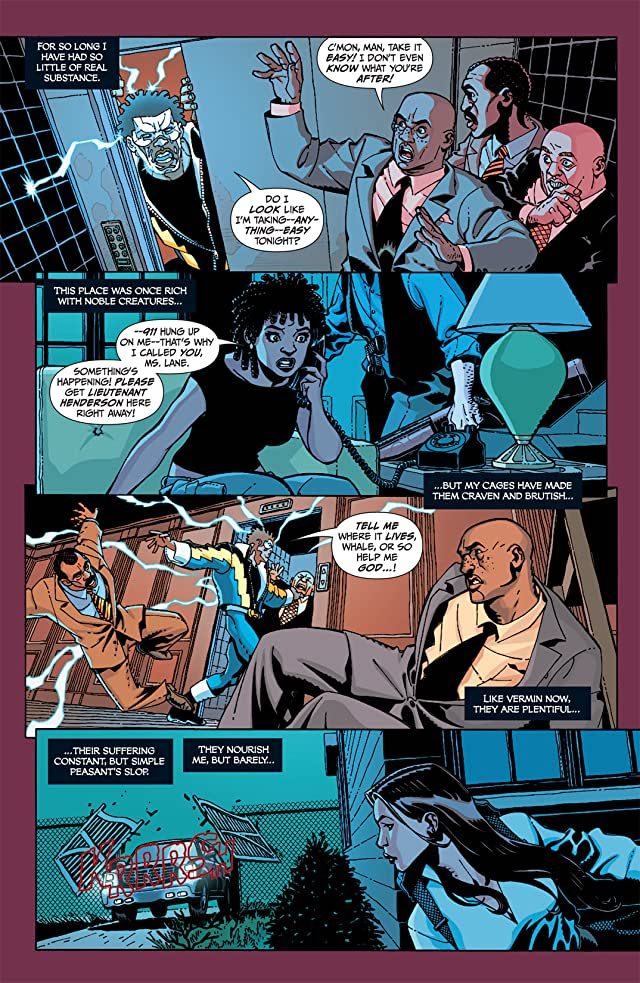 click for super-sized previews of Black Lightning: Year One #4