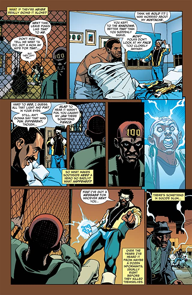 click for super-sized previews of Black Lightning: Year One #5 (of 6)