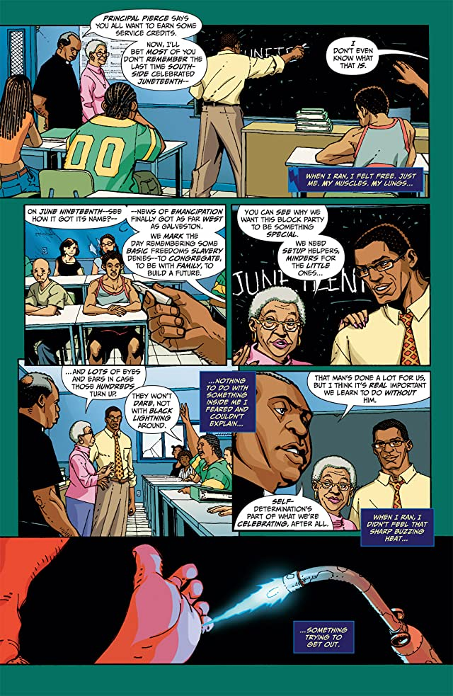 click for super-sized previews of Black Lightning: Year One #6