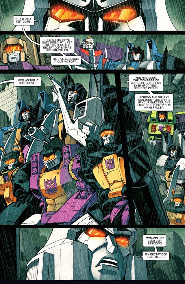click for super-sized previews of Transformers: All Hail Megatron #4