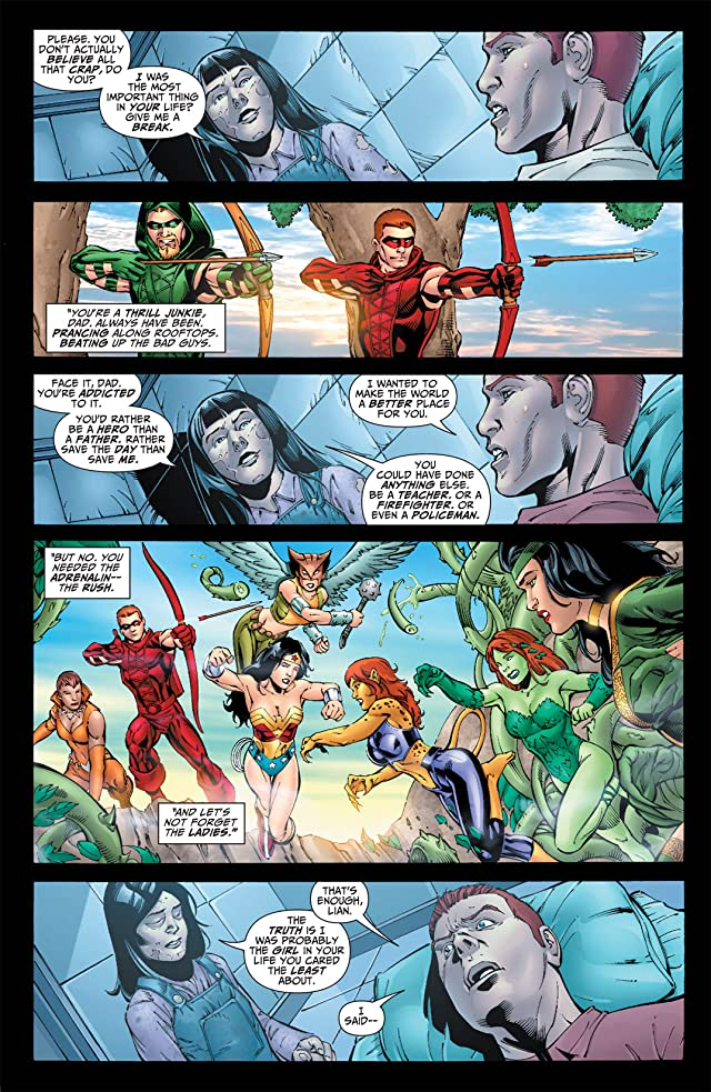 click for super-sized previews of Justice League: The Rise of Arsenal #4