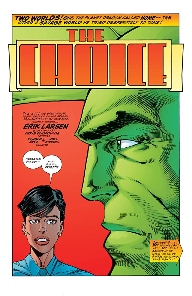 click for super-sized previews of Savage Dragon #100