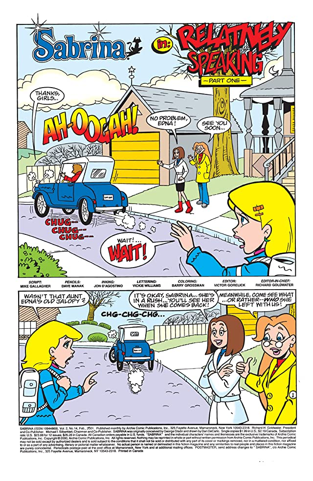 click for super-sized previews of Sabrina the Teenage Witch Animated Series #14