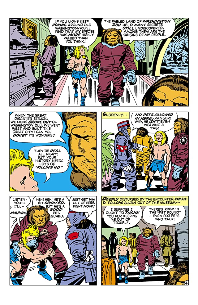 click for super-sized previews of Kamandi: The Last Boy on Earth (1971-1978) #8