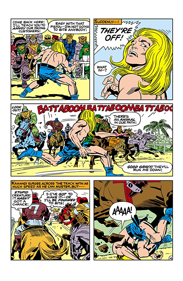 click for super-sized previews of Kamandi: The Last Boy on Earth (1971-1978) #13