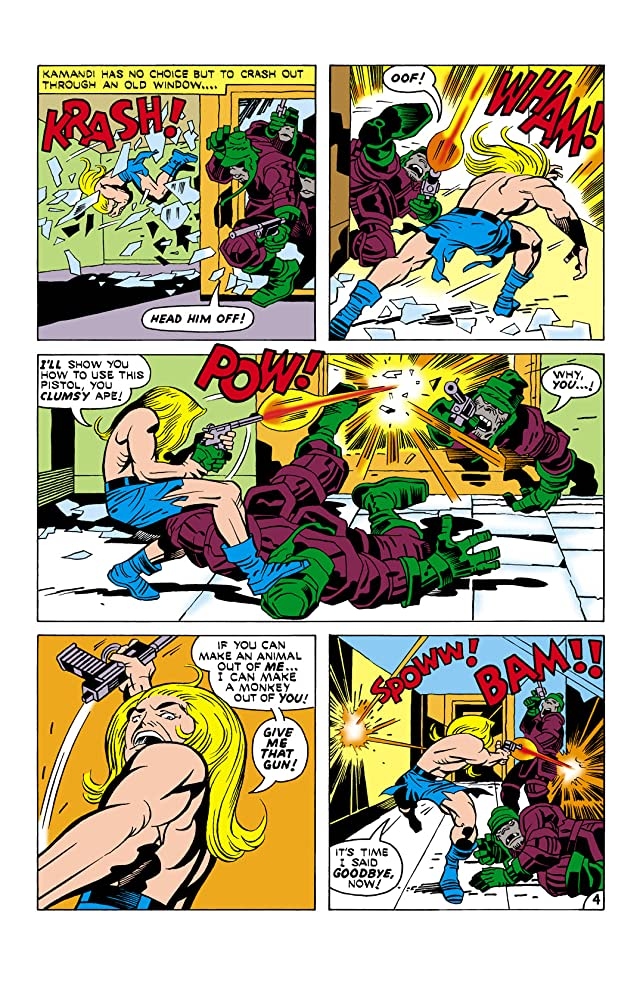 click for super-sized previews of Kamandi: The Last Boy on Earth (1971-1978) #18