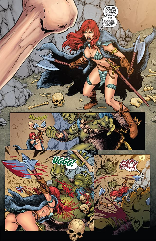 click for super-sized previews of Witchblade/Red Sonja #1