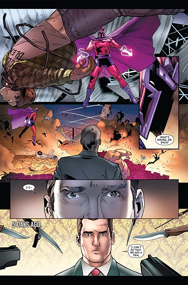 click for super-sized previews of Magneto: Not A Hero #4
