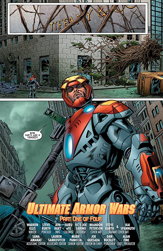 click for super-sized previews of Ultimate Comics Armor Wars #1