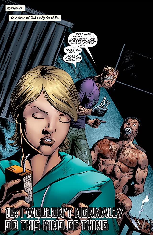 click for super-sized previews of Garth Ennis' Jennifer Blood #10