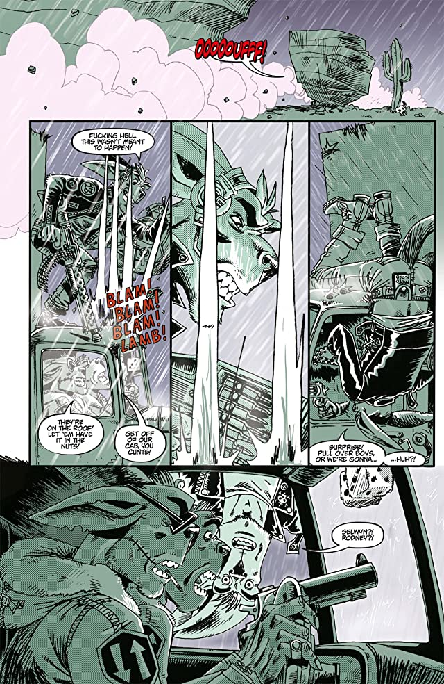 click for super-sized previews of Tank Girl: Bad Wind Rising #2