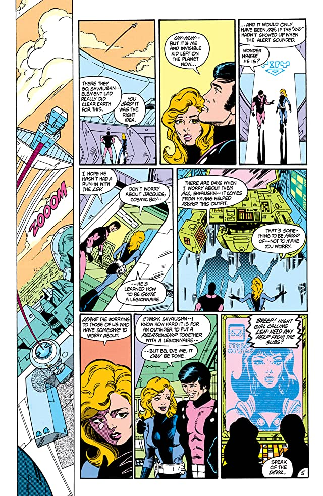 click for super-sized previews of Legion of Super-Heroes (1984-1989) #3
