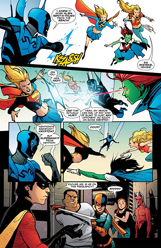 click for super-sized previews of Blue Beetle (2006-2009) #18