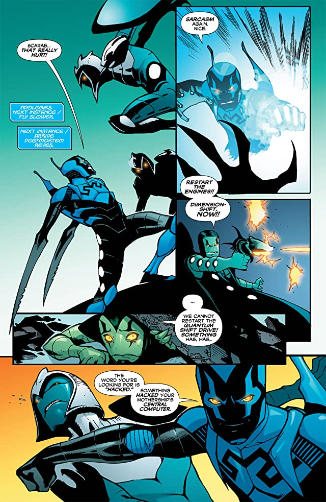 click for super-sized previews of Blue Beetle (2006-2009) #25