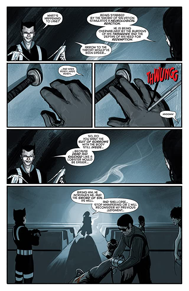click for super-sized previews of Azrael: Death's Dark Knight #2