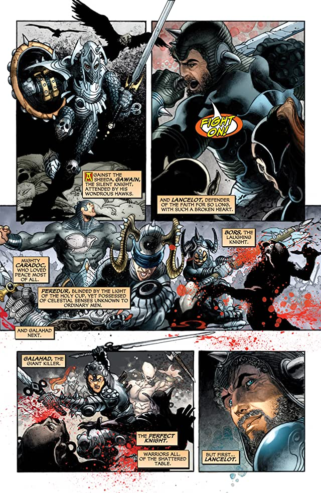 click for super-sized previews of Seven Soldiers: Shining Knight #1