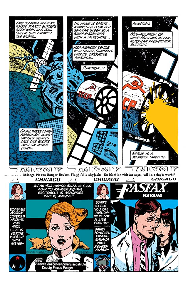 click for super-sized previews of American Flagg! #5