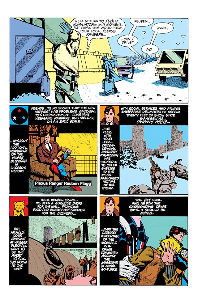 click for super-sized previews of American Flagg! #8