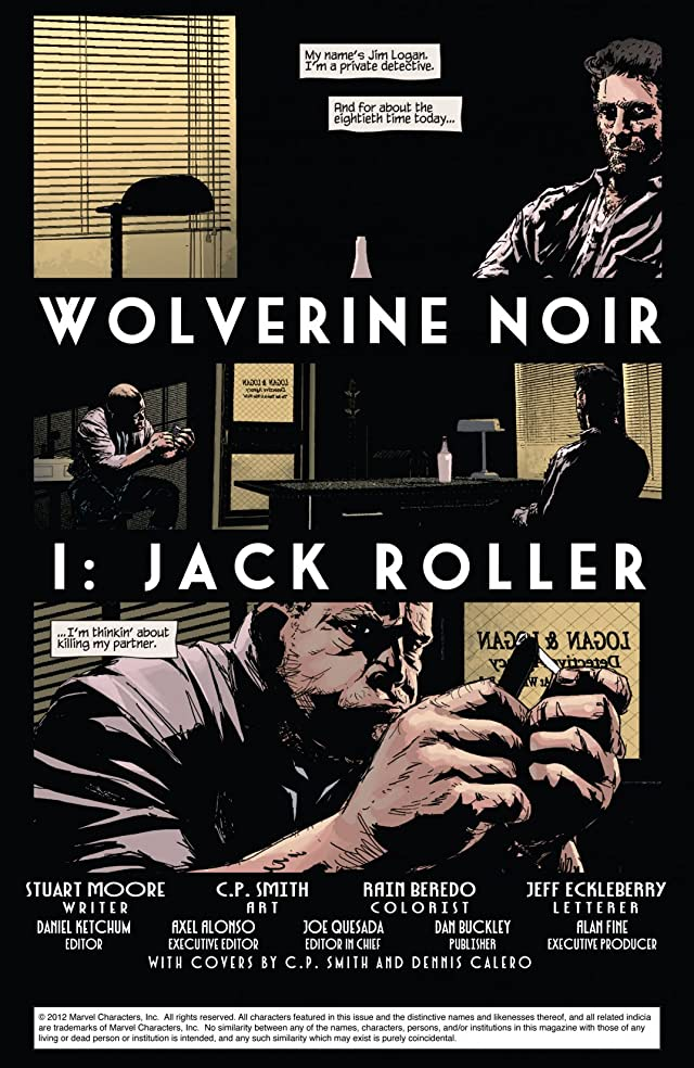 click for super-sized previews of Wolverine Noir #1