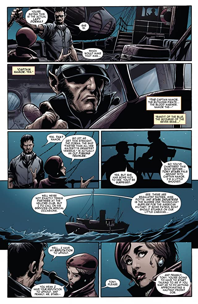 click for super-sized previews of Iron Man Noir #2 (of 4)