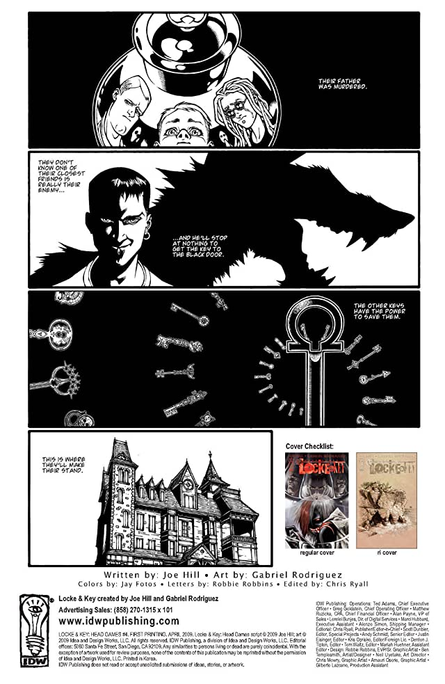 click for super-sized previews of Locke & Key: Head Games #4